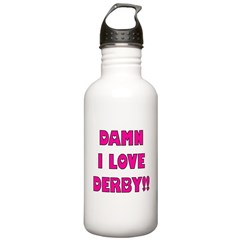 Damn I Love Derby Water Bottle