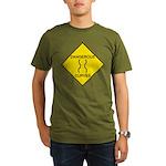 Dangerous Curves Sign Organic Men's T-Shirt (dark)