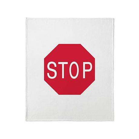 Stop Sign Throw Blanket