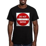 Do Not Enter 1 Men's Fitted T-Shirt (dark)