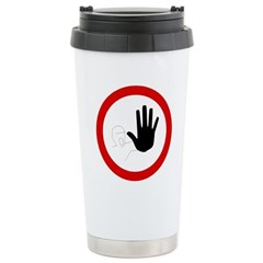 Restricted Access Sign Stainless Steel Travel Mug