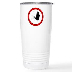 Restricted Access Sign Travel Mug