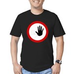 Restricted Access Sign Men's Fitted T-Shirt (dark)