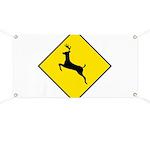 Deer Crossing Sign Banner