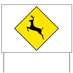 Deer Crossing Sign Yard Sign