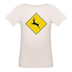 Deer Crossing Sign Organic Baby T-Shirt