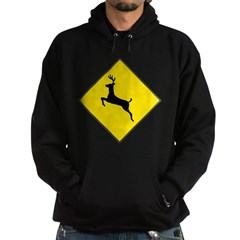Deer Crossing Sign Hoodie