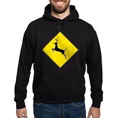 Deer Crossing Sign Hoodie (dark)