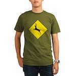 Deer Crossing Sign Organic Men's T-Shirt (dark)