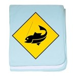 Fishing Area Sign baby blanket