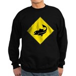 Fishing Area Sign Sweatshirt (dark)