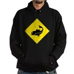 Fishing Area Sign Hoodie (dark)