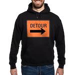 Detour Sign Hoodie (dark)