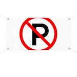 No Parking Sign Banner