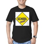 School Sucks Men's Fitted T-Shirt (dark)