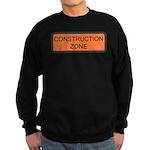 Construction Zone Sign Sweatshirt (dark)