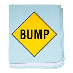 Warning - Bump Sign baby blanket