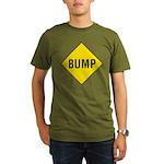 Warning - Bump Sign Organic Men's T-Shirt (dark)