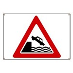 Cliff Warning Sign Banner