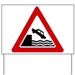 Cliff Warning Sign Yard Sign