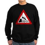Cliff Warning Sign Sweatshirt (dark)