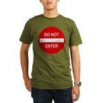 Do Not Enter Sign Organic Men's T-Shirt (dark)