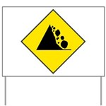 Fallign Rocks Sign Yard Sign
