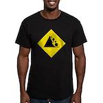 Fallign Rocks Sign Men's Fitted T-Shirt (dark)