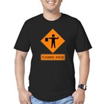 Flagman Ahead Sign 2 Men's Fitted T-Shirt (dark)