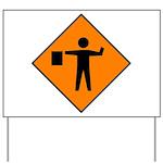 Flagman Sign Yard Sign