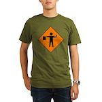 Flagman Sign Organic Men's T-Shirt (dark)