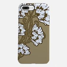 Tan Art Nouveau Flowers iPhone 7 Plus Tough Case