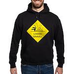 Yellow Loose Gravel Sign - Hoodie (dark)