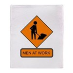 Men at Work 2 Throw Blanket