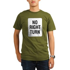 No Right Turn Sign Organic Men's T-Shirt (dark)
