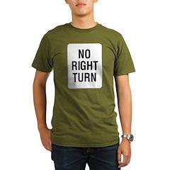 No Right Turn Sign T-Shirt