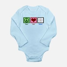 Peace Love Science Long Sleeve Infant Bodysuit