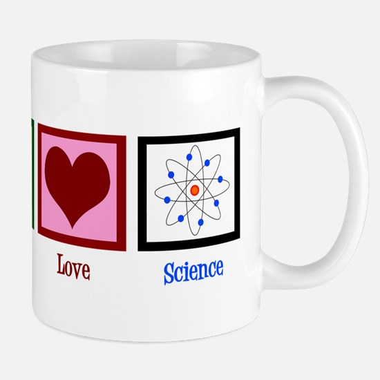 Peace Love Science Mug