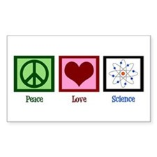 Peace Love Science Decal