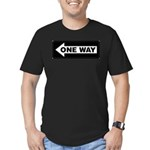 One Way Sign - Left - Men's Fitted T-Shirt (dark)