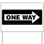 One Way Sign - Right - Yard Sign