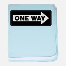 One Way Sign - Right - baby blanket