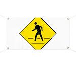 Pedestrian Crosswalk Sign Banner