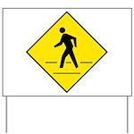 Pedestrian Crosswalk Sign Yard Sign