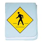 Pedestrian Crosswalk Sign baby blanket