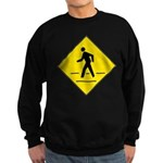 Pedestrian Crosswalk Sign Sweatshirt (dark)