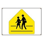 School Crossing Sign Banner