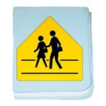 School Crossing Sign baby blanket