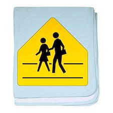School Crossing Sign baby blanket