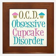 Cute Cupcake Framed Tile